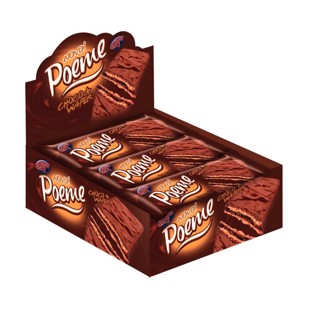 Chocolate ao leite caixa 36 unidades de 40g Poeme CX