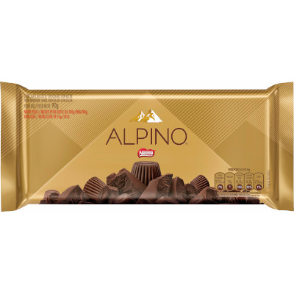 Chocolate ao leite 90g Nestlé/Alpino unidade UN
