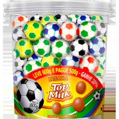 Chocolate bolinha pote 95 unidades Top Milk POTE