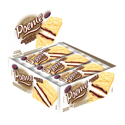 Chocolate branco caixa 15 unidades Poeme CX