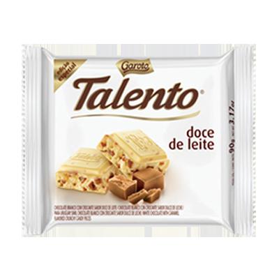Chocolate branco e doce de leite 90g Garoto/Talento  UN