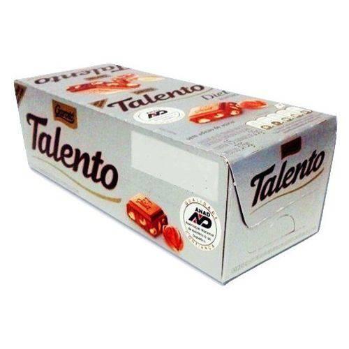 Chocolate com avelã diet 15 unidades de 25g Garoto/Talento caixa CX