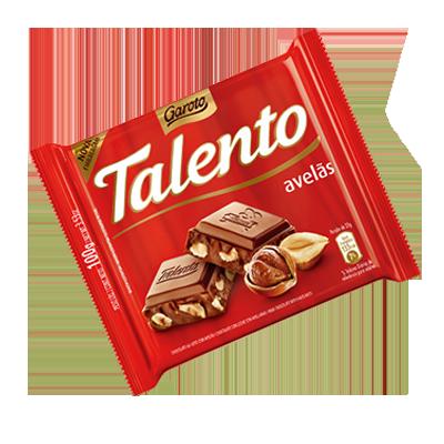 Chocolate com avelãs 100g Garoto/Talento  UN