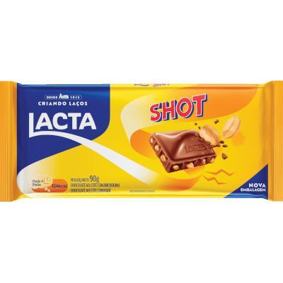 Chocolate com pedaços de amendoim 90g Lacta/Shot unidade UN