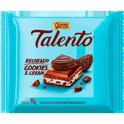 Chocolate cookies cream 90g Talento  UN