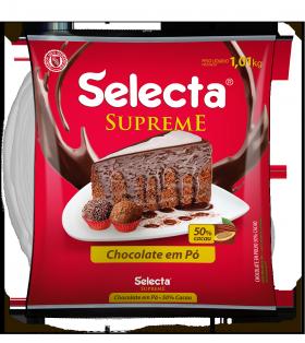 Chocolate em pó 50% cacau pacote 1kg Selecta PCT