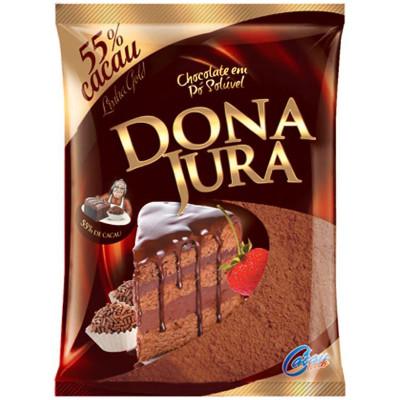 Chocolate em pó 55% cacau 200g Dona Jura pacote PCT