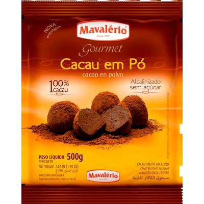 Chocolate em pó alcanilizado pacote 500g Mavalerio PCT