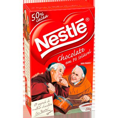 Chocolate em pó solúvel 200g Nestlé/Dois Frades caixa CX