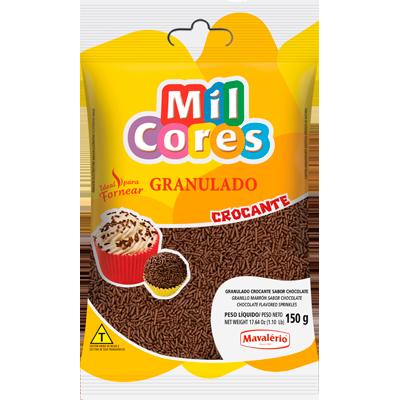 Chocolate Granulado crocante pacote 150g Mavalerio PCT
