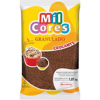 Chocolate Granulado Crocante Chocolate 1kg Mavalerio pacote PCT