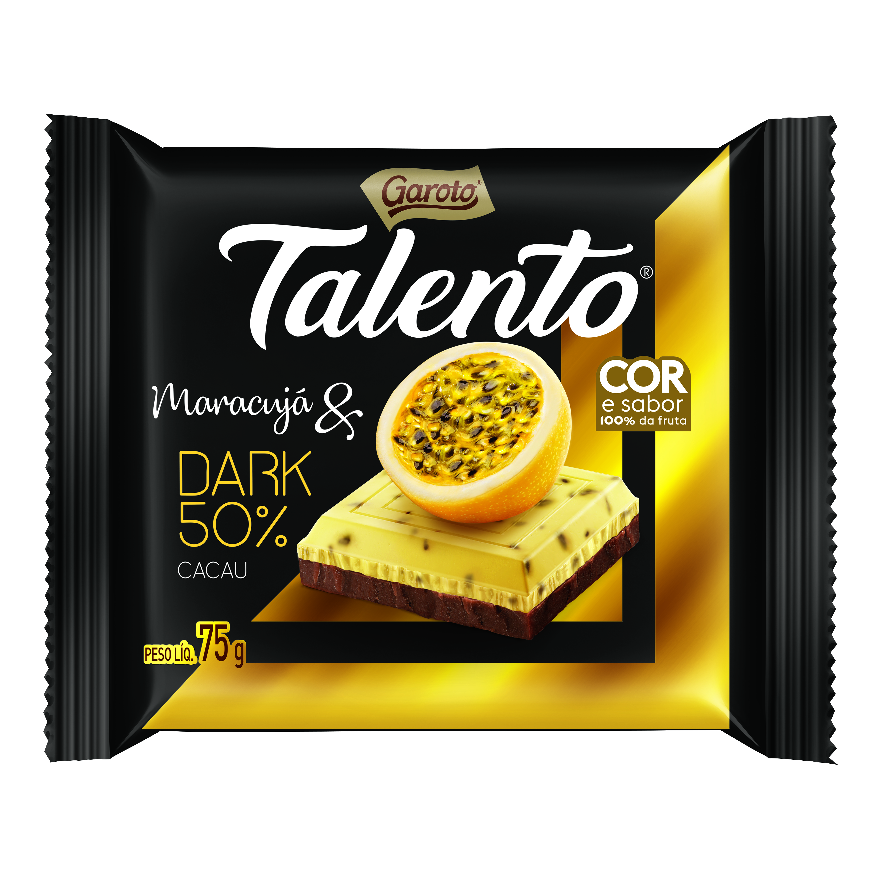Chocolate maracujá & dark 50% cacau 75g Garoto/Talento  UN