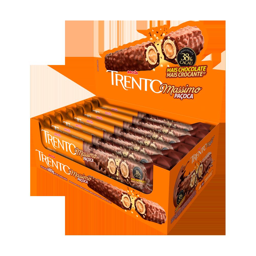 Chocolate massimo paçoca 16 unidades Trento caixa UN