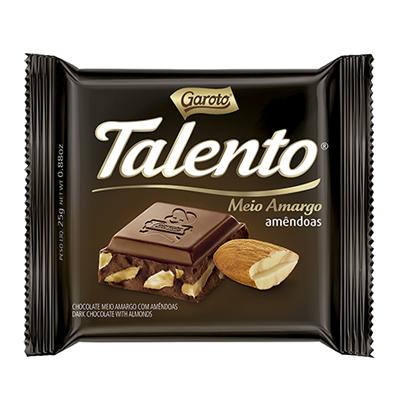Chocolate meio amargo 25g Garoto/Talento  UN