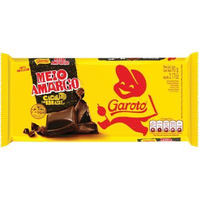 Chocolate meio amargo 90g Garoto  UN