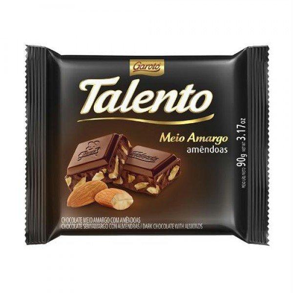 Chocolate meio amargo 90g Garoto/Talento unidade UN