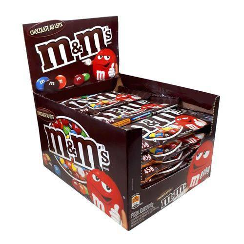Chocolate M&M's ao leite 18 unidades de 45g M&M's caixa CX