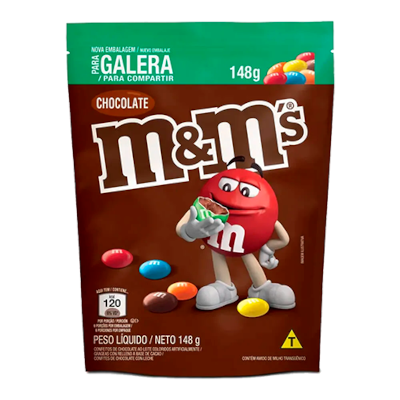 Chocolate M&M's chocolate 148g M&M's pacote PCT