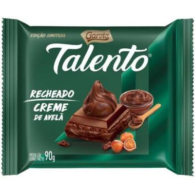 Chocolate recheado avelã 90g Garoto/Talento unidade UN