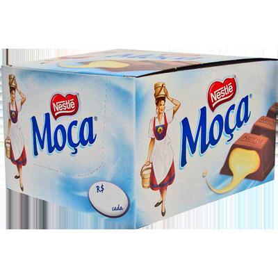 Chocolate recheado com leite moça 24 unidades Nestlé/Moça caixa CX
