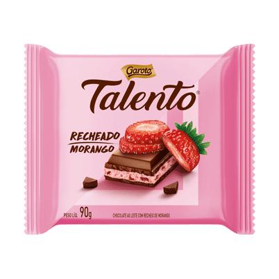 Chocolate recheado com morango 90g Garoto/Talento  UN