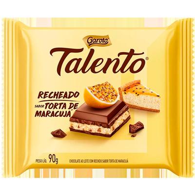 Chocolate recheado com torta de maracujá 90g Garoto/Talento  UN
