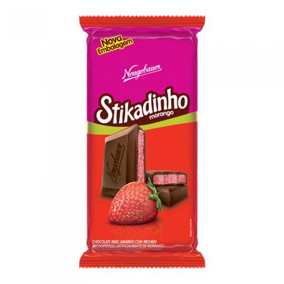 Chocolate recheio morango 61,5g Stikadinho  UN