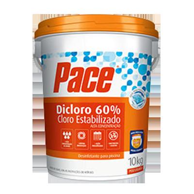 Cloro estabilizado dicloro 60% balde 10kg PACE BD