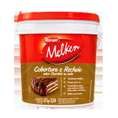 Cobertura e recheio chocolate ao leite Balde 4kg Harald/Melken BD