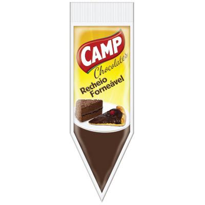 Cobertura e recheio forneável sabor chocolate ao leite 1,01kg Camp bisnaga BIS