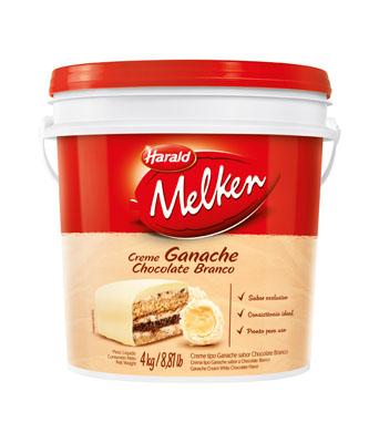 Cobertura e recheio ganache sabor chocolate branco 4kg Harald/Melken balde BD