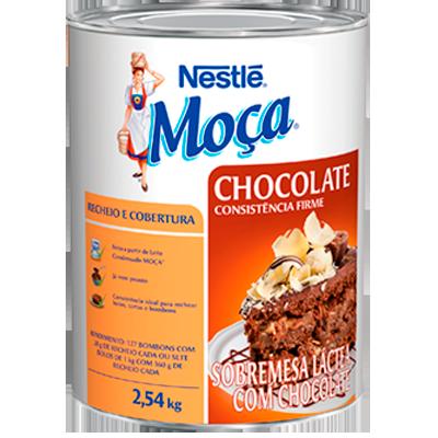 Cobertura e recheio sabor chocolate 2,5kg Nestlé/Moça lata UN
