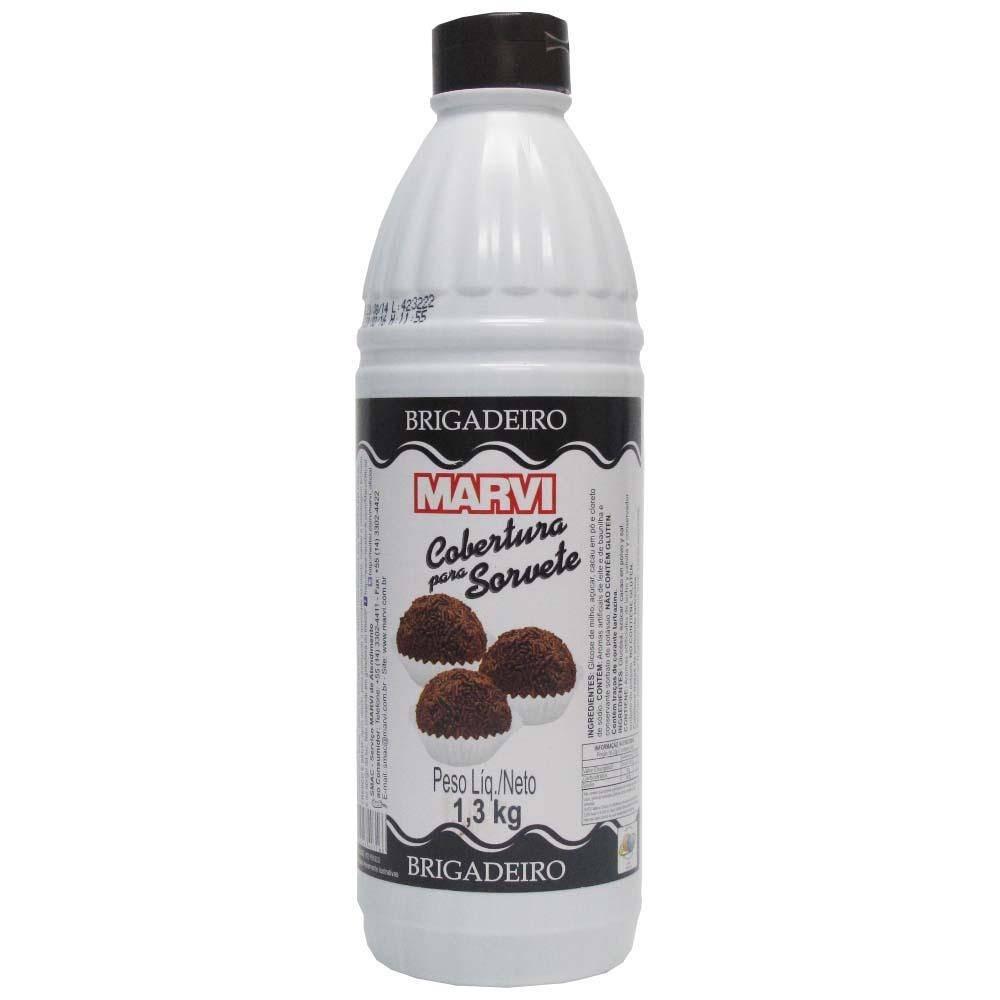 Cobertura para sorvete sabor brigadeiro 1,3kg Marvi UN