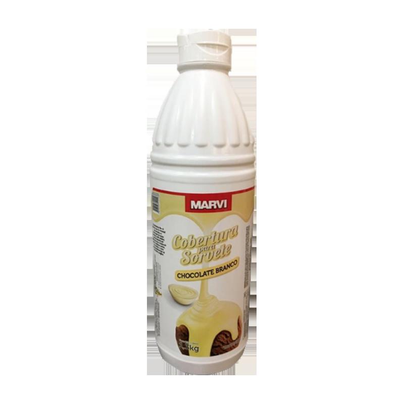 Cobertura para sorvete sabor chocolate branco 1,3kg Marvi UN