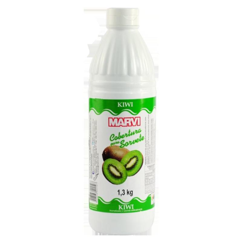 Cobertura para sorvete sabor kiwi 1,3kg Marvi UN