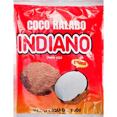 Coco ralado em flocos 100g Indiano pacote PCT