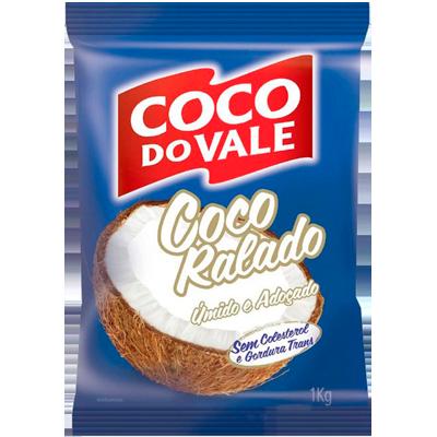 Coco ralado úmido e adoçado pacote por kg Coco do Vale KG