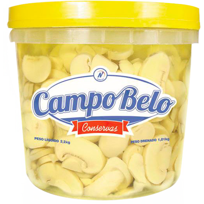 Cogumelo champignon fatiado 1kg Campo Belo balde BD