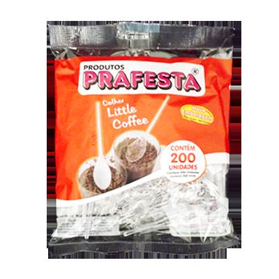 Colher descartável café cristal pacote 200 unidades Prafesta PCT