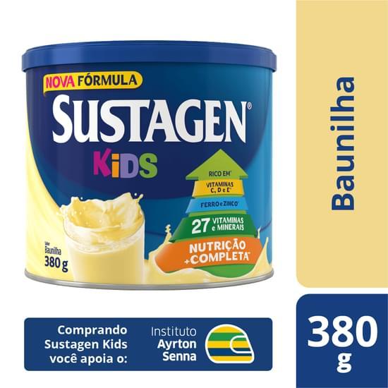 Complemento Alimentar sabor baunilha 380g Sustagen/Kids lata LT