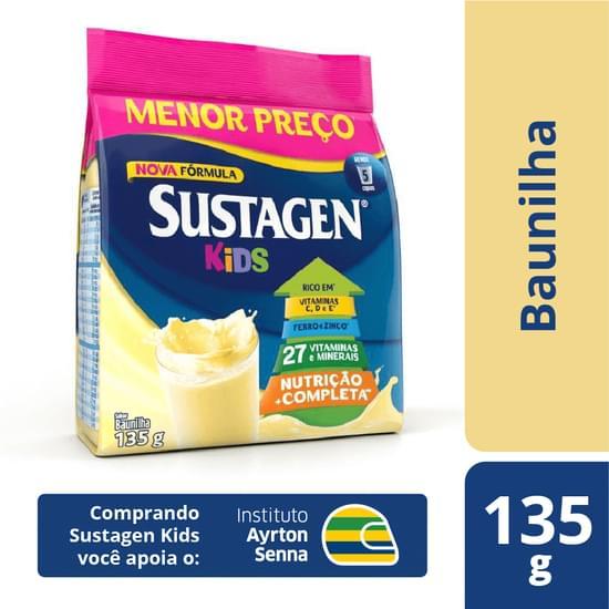 Complemento Alimentar sabor baunilha 135g Sustagen/Kids pacote PCT