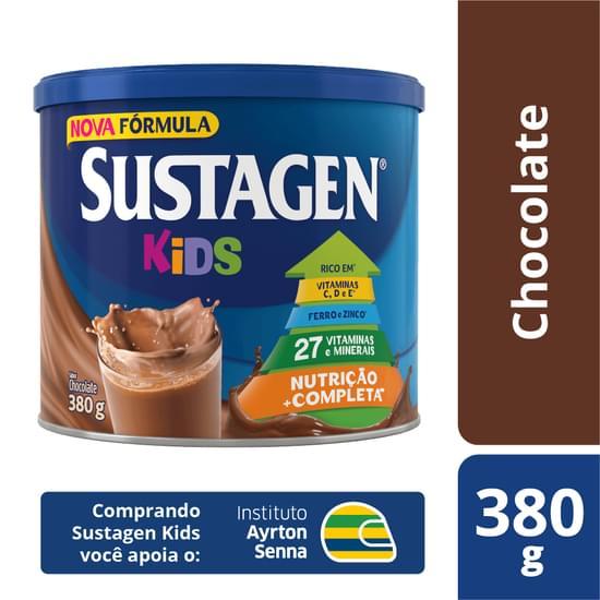 Complemento Alimentar sabor chocolate lata 380g Sustagen/Kids LT