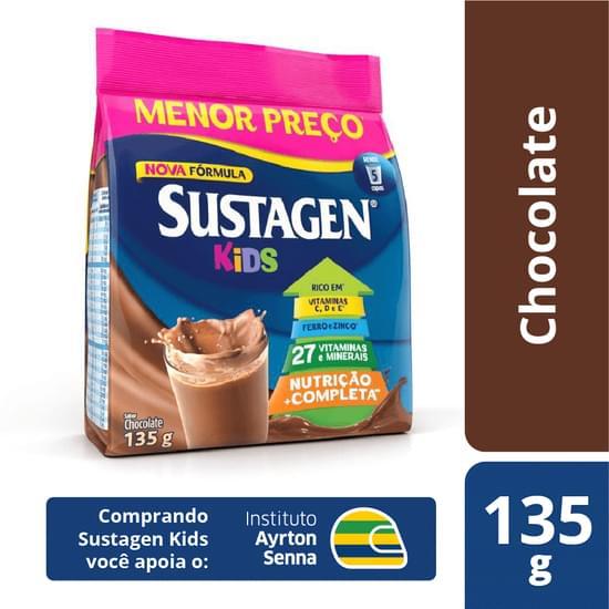 Complemento Alimentar sabor chocolate 135g Sustagen/Kids pacote PCT