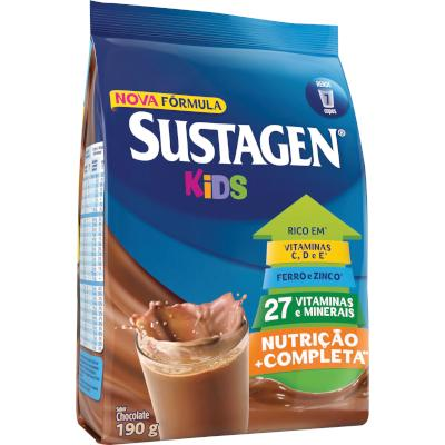 Complemento Alimentar sabor chocolate 190g Sustagen/Kids pacote PCT
