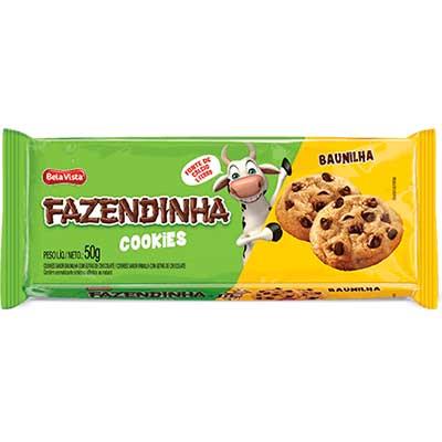 Cookies sabor baunilha 50g Fazendinha pacote PCT