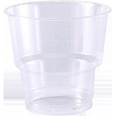 Copo descartável acrílico 300ml branco 10 unidades Cristalcopo pacote PCT