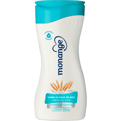 Creme Corporal Loção Hidratante Iogurte e Aveia 200ml Monange  UN