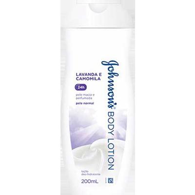 Creme Corporal Loção Hidratante Lavanda e Camomila 200ml Johnson's  UN