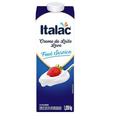 Creme de leite 17% de gordura 1kg Italac Tetra Pak UN