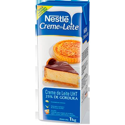 Creme de leite 25% de gordura 1kg Nestlé Tetra Pak UN